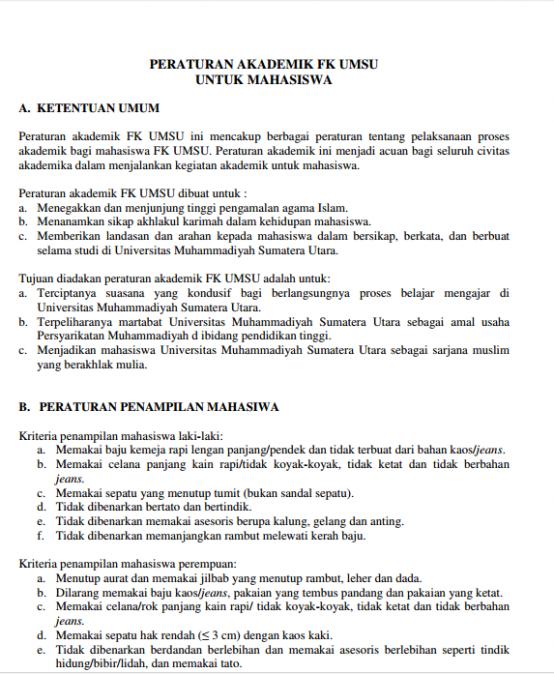 Peraturan Akademik 2016