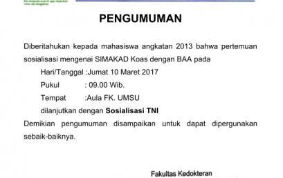 SOSIALISASI SIMAKAD untuk P3D