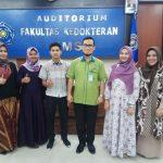 Pelepasan tim mahasiswa FK UMSU yg mengikuti Olimpiade Fisiologi Nasional (IMPHO) di FK UNAIR oleh Wakil Dekan 3, dr. Elman Boy, M. Kes.,FIS-PH.,FIS-CM