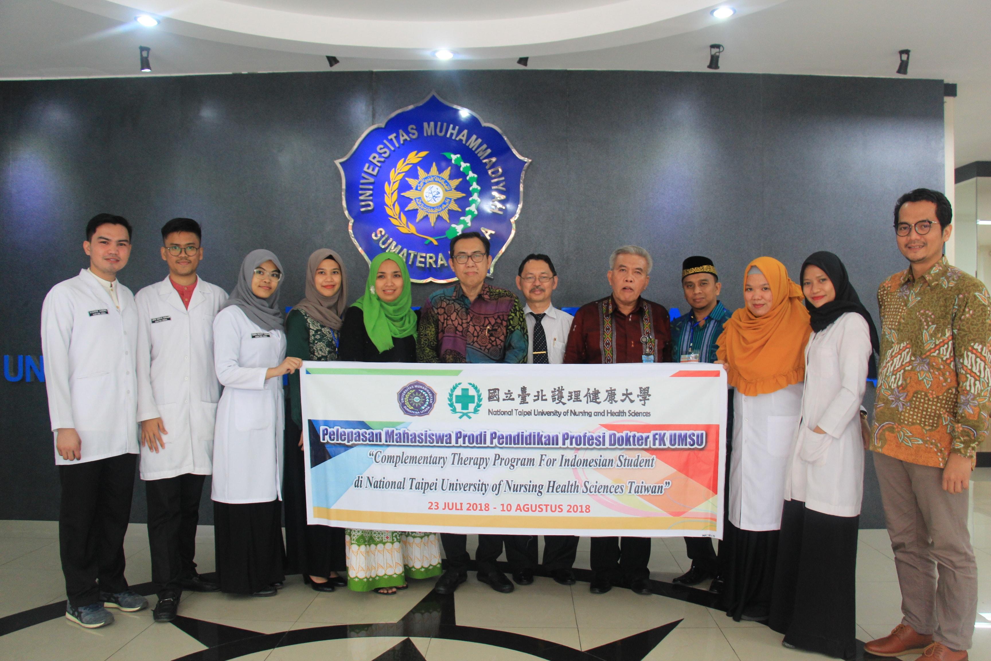 Pelepasan Mahasiswa FK-UMSU ke Taiwan