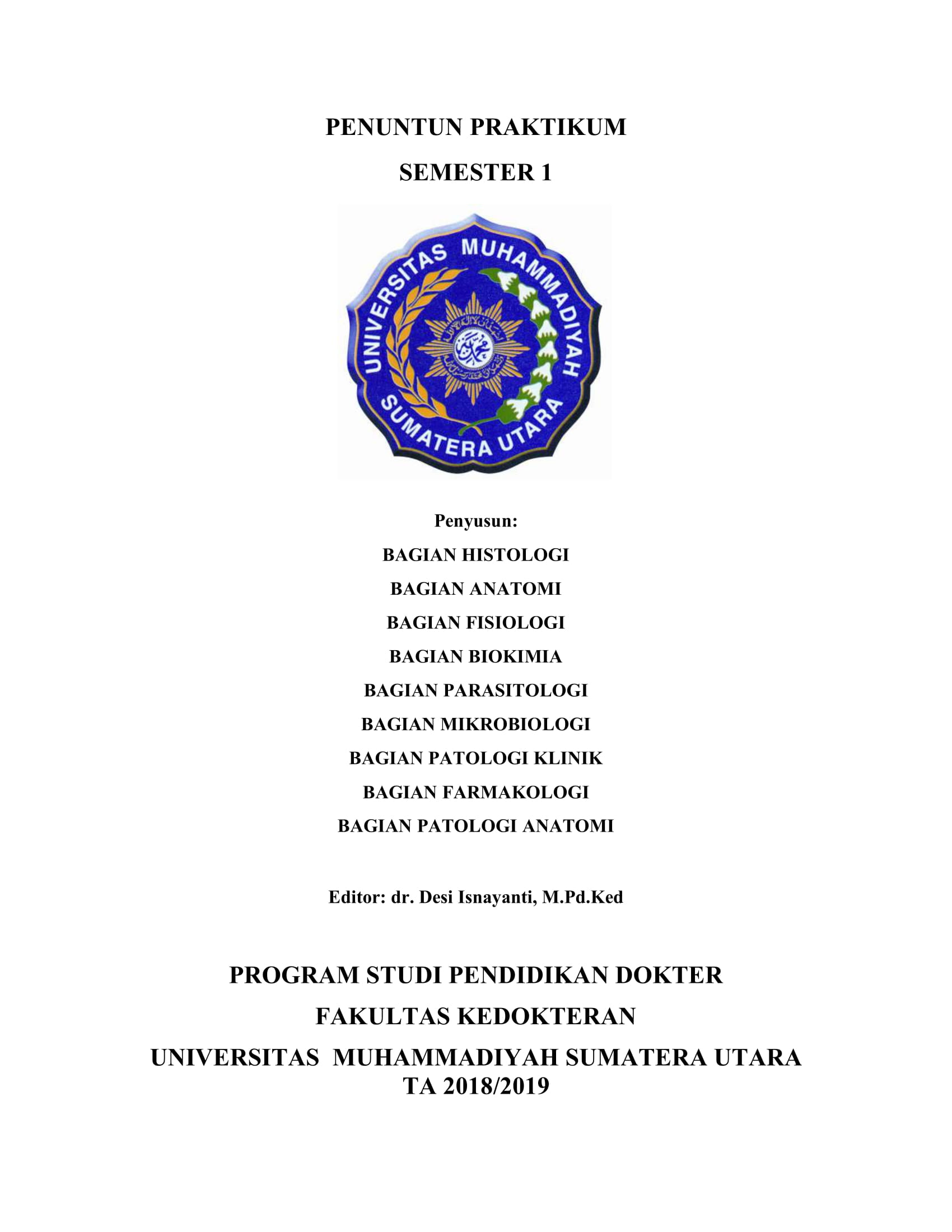 Panduan Praktikum Semester 1 2018-2019